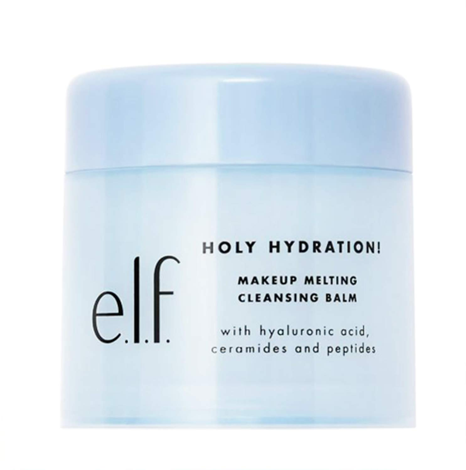 Elf Holy Hydration Makeup Melting Cleansing Balm 2 Oz! Infused With Hyaluronic Acid, Ceramides And Peptides! Easily Removes Makeup And Leaves Skin Feeling Soft With Hydration! Vegan & Cruelty Free!