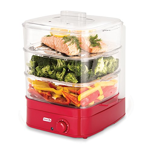 Dash DIS001RD Instant Food Steamer, Red