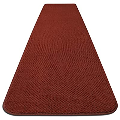 House, Home and More Skid-Resistant Carpet Runner - Brick Red - 6 Feet X 27 Inches - These carpet runners feature a premium, skid-resistant rubber backing to create a slip-resistant surface for your family and pets Made of high-quality olefin carpet to resist stains Bound on all edges to prevent fraying - runner-rugs, entryway-furniture-decor, entryway-laundry-room - 51ogEdH12GL. SS400  -