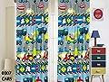 Kids Girls Boys Window Curtain Panels with tiebacks (4 piece set), Various Fun Kids Designs Window Curtain for Girls Boys Kids, Pink Blue Boys Girls Kids Teens Room Décor, Window Treatment