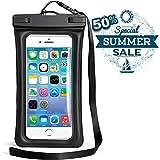 "Universal Waterproof Case, Powerman Dry Bag TPU Floating Waterproof Phone Pouch for iPhone X/8/8 Plus/7/7 Plus/6s/6/6s Plus Samsung Galaxy S9 Plus/S8 Plus/S7 LG V20 Google Pixel Huawei, Up to 6.2"""