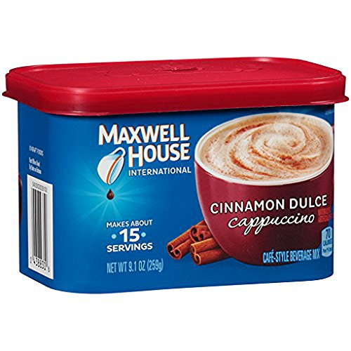Maxwell House International Coffee Café Flavored Instant Coffee, Cinnamon Dulce Cappuccino, 9.1 Ounce