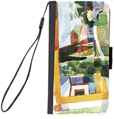 Rikki Knight Premium PU Wallet Flip Case with Kickstand & Magnetic Flap for iPhone 7 & iPhone 8 - August Macke Art Our Garden on the Lake IV (Macke Garden)