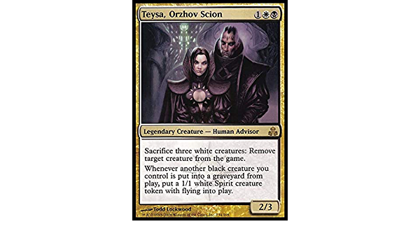 Amazon Com Magic The Gathering Teysa Orzhov Scion Guildpact Foil Toys Games Whenever another black creature you control dies, create a 1/1 white spirit creature token with flying. teysa orzhov scion