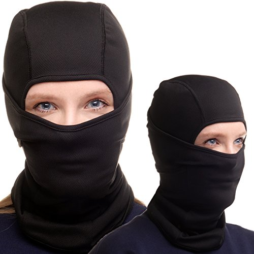 Balaclava Ski Mask - Black Face Mask for Ski and Snowboard - For Women and Men + Free Gift (Womens Board Above)