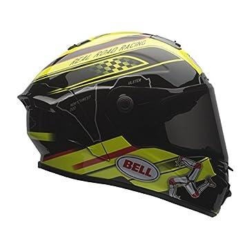 Bell - Casco de moto de color negro y amarillo, talla L