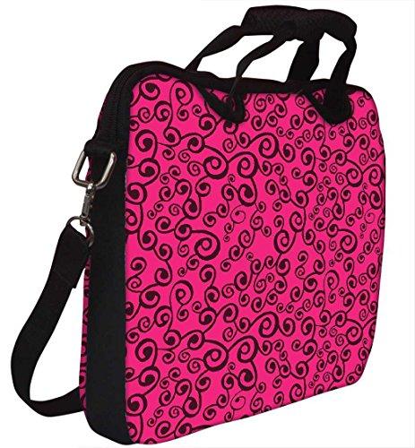 Snoogg Pink Muster 30,5cm 30,7cm 31,8cm Zoll Laptop Notebook Computer Schultertasche Messenger-Tasche Griff Tasche mit weichem Tragegriff abnehmbarer Schultergurt für Laptop Tablet PC Ultrabook Chr