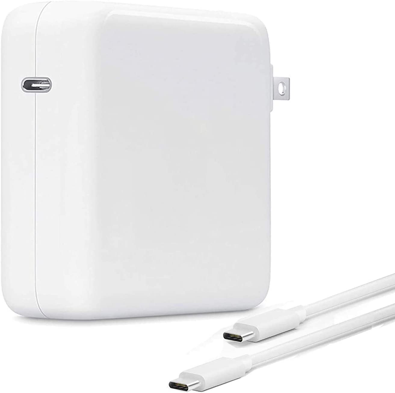 Mac Book Pro Charger,87W USB C Power Adapter Compatible with MacBook Pro 13 Inch 15 Inch 2020 2019 2018 Include Charge Cable
