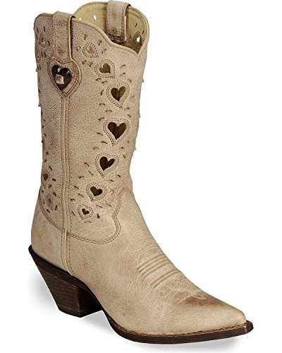 Cowgirl Wedding Boots - Durango Women's Crush Heart Western Boot,Beige,8