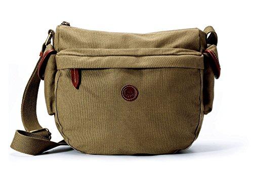 Lightweight Crossbody Medium Travel Waxed �C Olive Water �C Bag La Canvas Purse �C Hobo Women's Shoulder Poet Handbag Resistant anqRwA0S