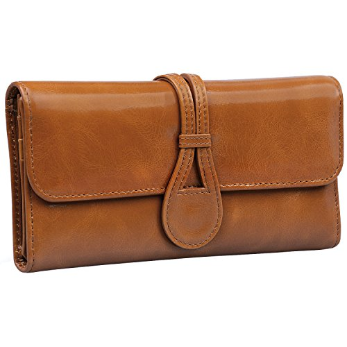 Jack&Chris Women's Genuine Leather Organizer Wallet Card Case Purse,...