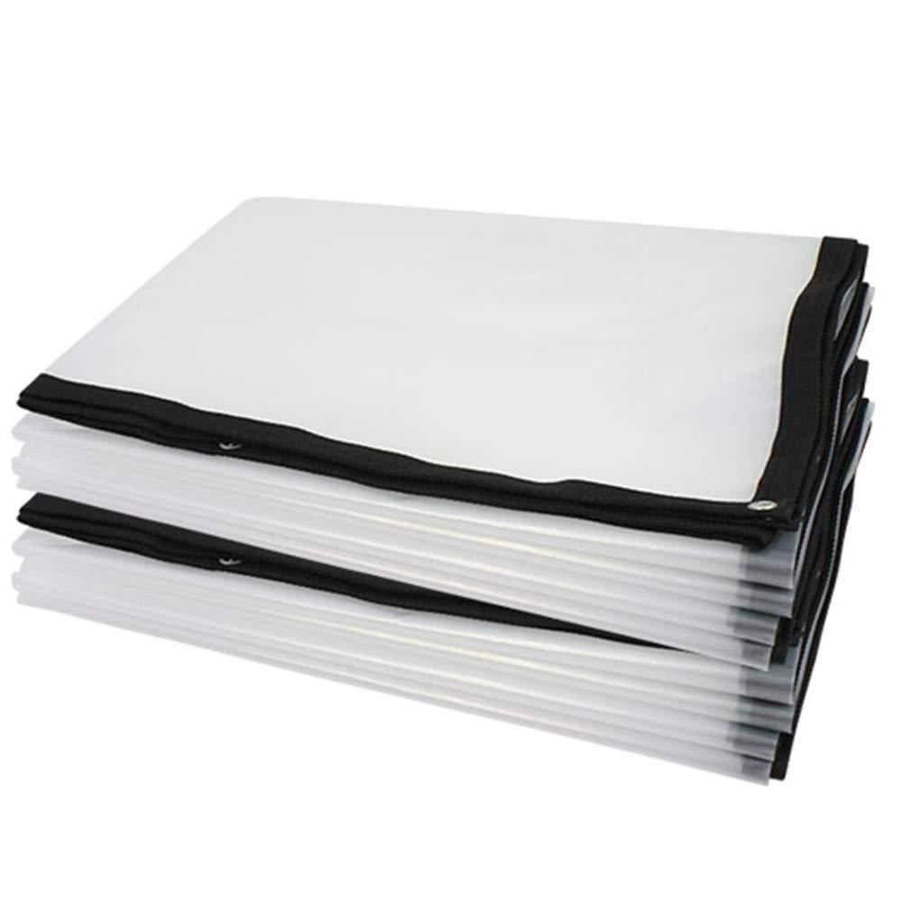 LIXIONG オーニングオーニング 防水耐寒性透明な長寿命断熱、PVC, 180g/m², 25サイズカスタマイズ可能 (色 : トランスペアレント, サイズ さいず : 4x7m) 4x7m トランスペアレント B07KCRD6M5
