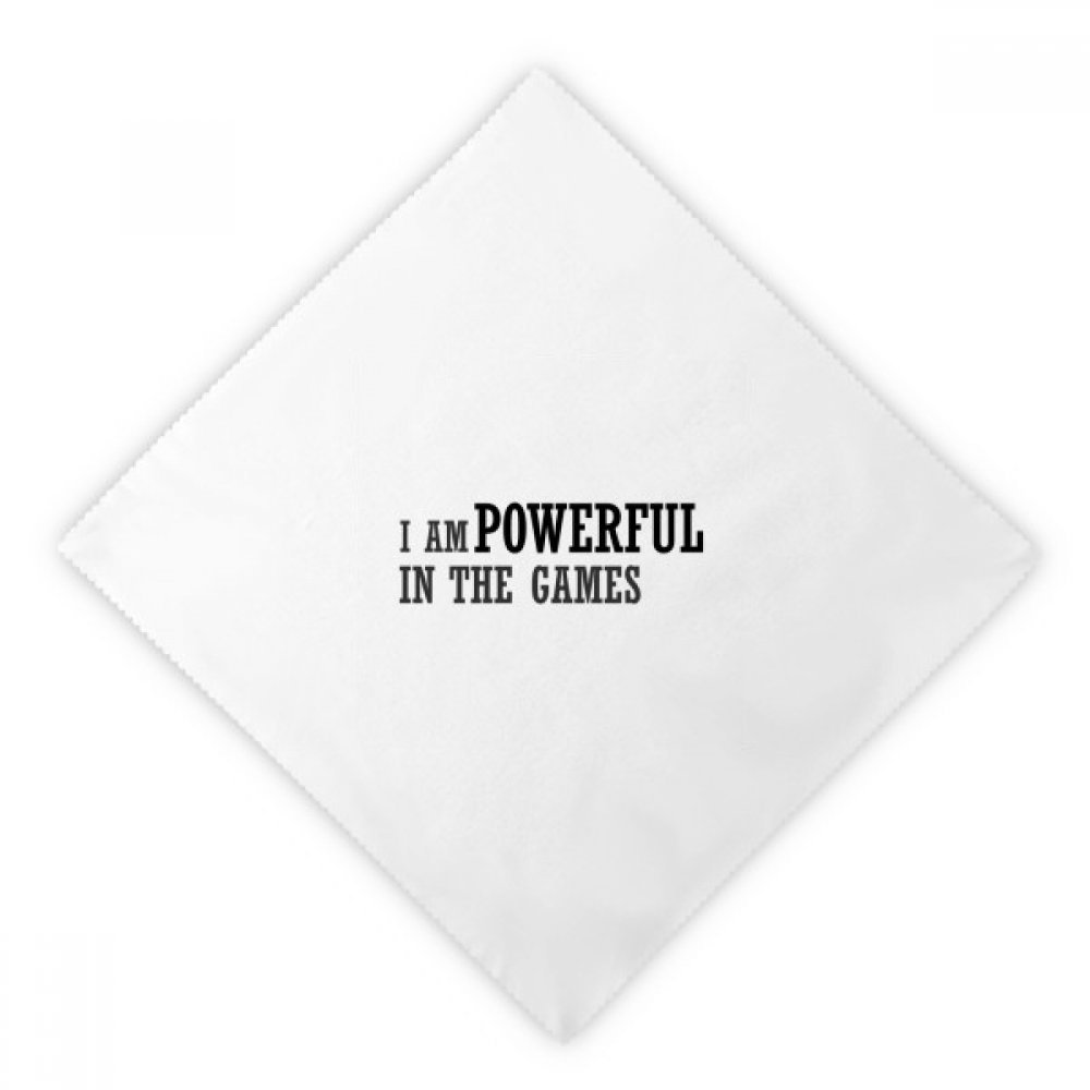 DIYthinker I Am Powerful In The Games Dinner Napkins Lunch White Reusable Cloth 2pcs