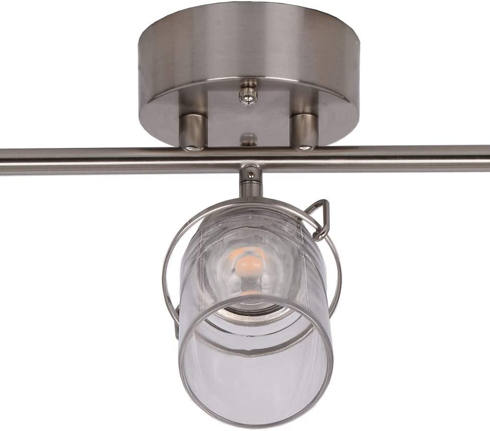 Brushed Nickel Catalina Lighting 22625-000 Transitional 3 Integrated LED Fixed Track Lighting Kit 24.5