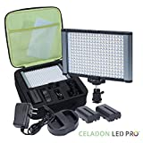 Radiant 2XL 280 LED CRI 95+ Bi-Color Ultra Bright Dimmable Rechargeable Camcorder Video On-Camera Flat Panel Studio Light Kit for Canon Nikon Pentax Sony Samsung DSLR and YouTube