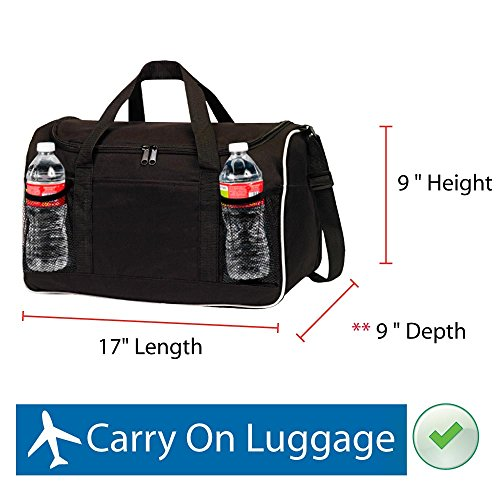 BuyAgain Duffle Bag, 17'' Small Travel Carry On Sport Duffel Gym Bag. by BuyAgain (Image #2)