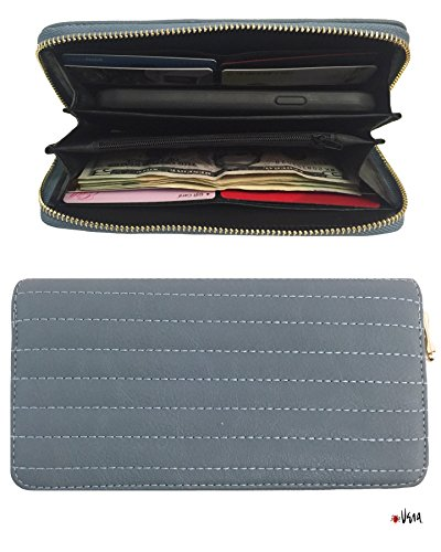 Vera Womens Classic Leather Clutch product image
