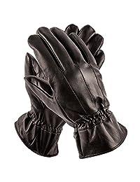 Pierre Cardin Men's Gloves (Black Full Thinsulate, L/XL)