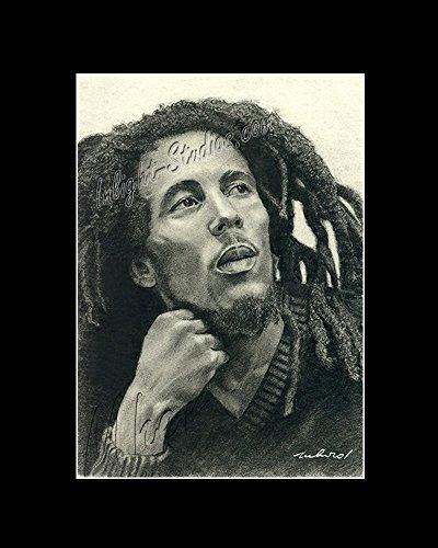 Bob Marley drawing reggae singer/songwriter from artist
