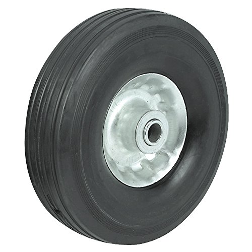 10″ Utility Solid Rubber Wheel Assembly for Dollies, Wagons, & Carts (1) For Sale