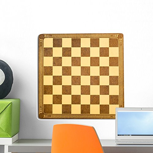 Wallmonkeys Antique Checkerboard Wall Decal Peel and Stick Graphic (18 in H x 18 in W) (Antique Checkerboard)