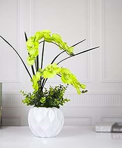 LQAQ Artificial Flower Silk Flower Home decorBonsai Kit Green