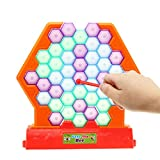Wanrane Save Bee Knock Down Building Blocks,Beating Honeycomb Party Board Game Toy Children Educational Toys