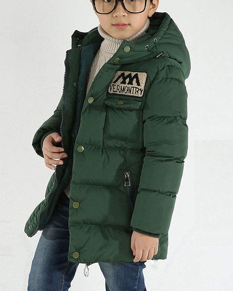Lishui Ragazzo Inverno Cappotto Imbottito Caldo Giubbotto Giacche con Cappuccio