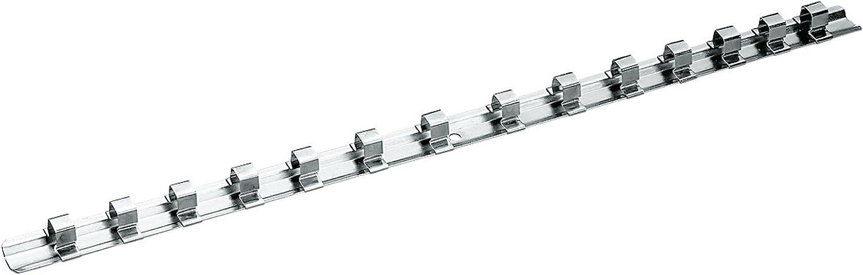 Gedore VH 30 Carril-muelle en acero para 14 llaves de vaso de 3//8