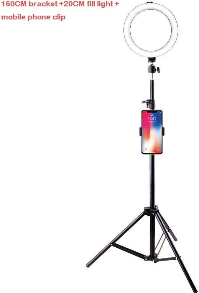 Size : D Ring Light 20CM Desktop//Floor Stand Ring Light USB Power Supply 3 Light Mode Fill Light Anchor Selfie Beauty Light Ringlight