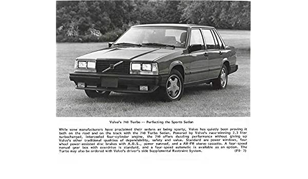Amazon.com: 1987 Volvo 740 Turbo Automobile Photo Poster: Entertainment Collectibles