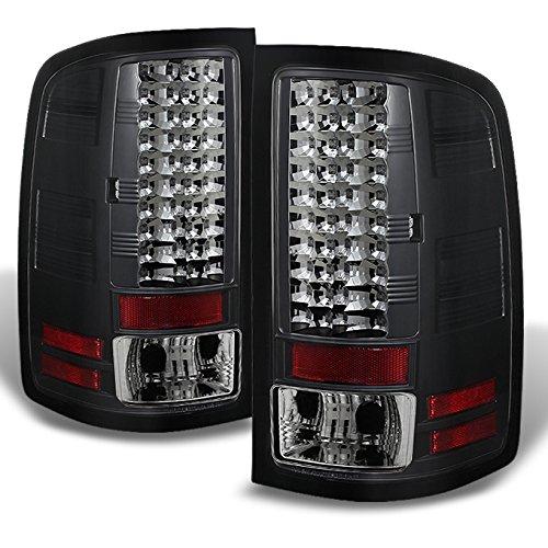 For GMC Sierra 1500/2500/3500 Pickup Truck Black Bezel LED Tail Lights Driver/Passenger Lamps