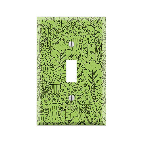 TREE LOVER Wall Plate Cover, NATURALIST Switch Plate, GREEN THUMB Single Toggle, Single Rocker/GFCI, Duplex Outlet, Dual Toggle, Dual Rocker/GFCI, FOREST Kids Nursery Room FOREST Art TF63