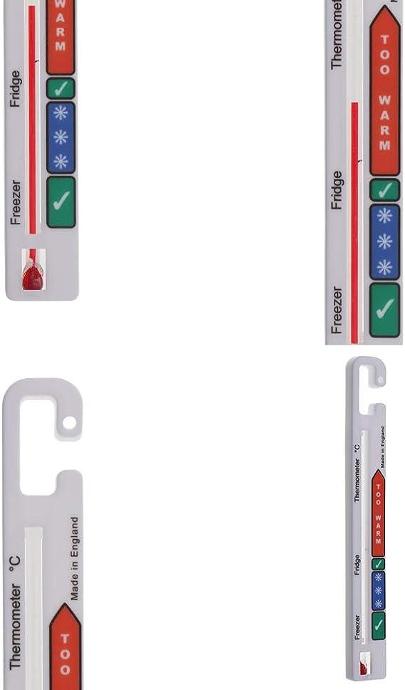 Termómetro para nevera – Termómetro para congelador con zonas de ...