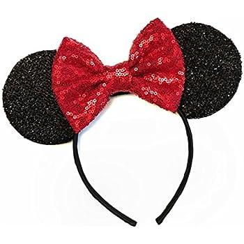 Red Mickey Ears, Rainbow Minnie Mouse Ears, Sparkly Minnie Ears, Mouse Ears, Electrical Parade Ears,