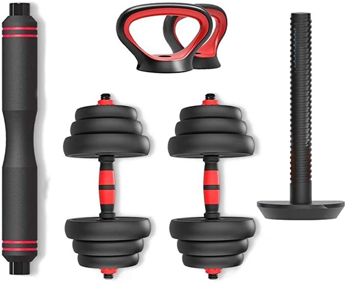 Professional 30 Kg Adjustable Iron Dumbbells Barbell Set Weight Lifting Fitness