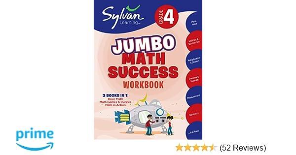 4th Grade Jumbo Math Success Workbook Activities Exercises