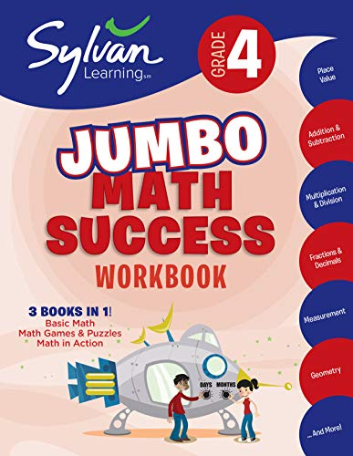 4th Grade Jumbo Math Success Workbook: Activities, Exercises, and Tips to Help Catch Up, Keep Up, and Get Ahead (Sylvan