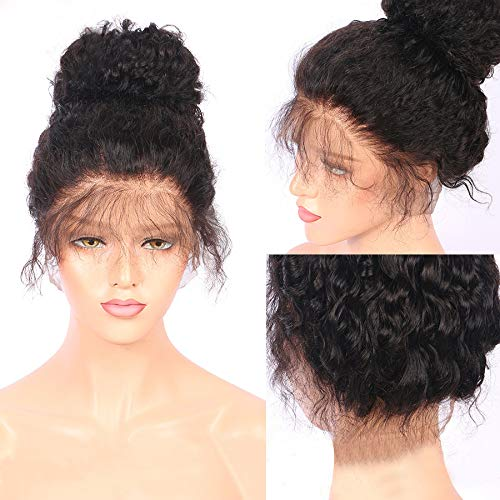 US shipment Clearance Long Curly Hair Black Small Roll Front Lace Wig Hand Woven Head Cover 18 Inch by USLovee3000