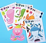 MAKE SEA LIFE STICKERS, Case of 2880