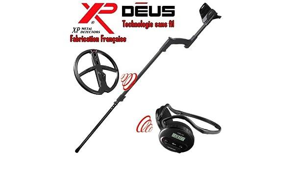 Metal Detectors Xp-Detector De metales Deus Light3 Tecnología inalámbrica-Auriculares De diadema inalámbricos Ws4-Disco duro Dd, 28 Cm, incluye protector ...