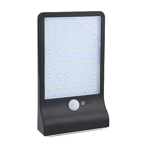 36 LED con energía solar Sensor de movimiento Infrarrojo Inducción Jardín Seguridad Lámpara Luz exterior impermeable
