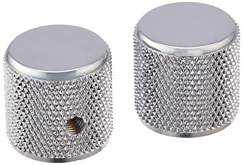 - Fender Telecaster/Precision Bass Knobs - Knurled Chrome