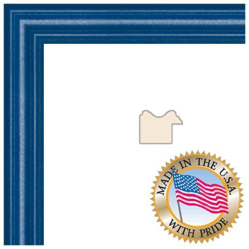 ArtToFrames 11x16 inch Blue Stain on Red Leaf Maple Wood Picture Frame 2WOM006660823YBLU11x16