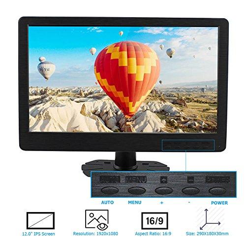 Elecrow 12-Inch 1920X1080 HDMI DVI-D VGA PS3 PS4 WiiU Xbox360 1080P Display Monitor for Raspberry Pi 2B B+ Raspberry Pi 3B Windows 7 8 10 by Elecrow (Image #1)