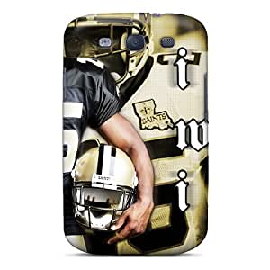 Durable Hard Phone Covers For Samsung Galaxy S3 (ovU557cezt) Provide Private Custom High Resolution New Orleans Saints Pattern