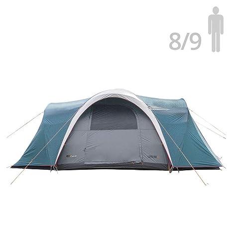 NTK Tienda de Campaña Resistente 100% Impermeable para 8 a 9 Personas Acampada al Aire Libre y Senderismo Tamaño Familiar 460 x 300 x 190 cm - Laredo ...