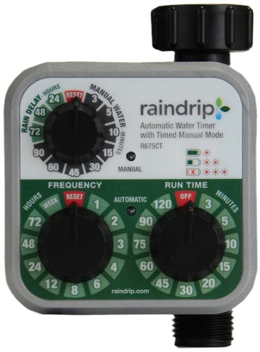 Raindrip R675CT Analog 3-Dial Water Timer