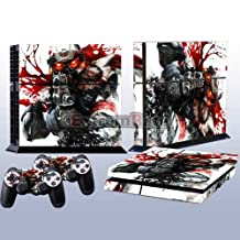New arrival Cool Killzone 4 Decal Skin Stickers For Playstation 4 PS4 Console 2 Pcs Stickers For PS4 Controller