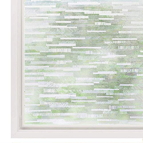 Rabbitgoo Privacy Window Film Frosted Matte Window Sticker Static Cling Door Film No Glue Glass Film Window Sticker Anti-UV Glass Film for Home Office Living Room Meeting Room(17.5